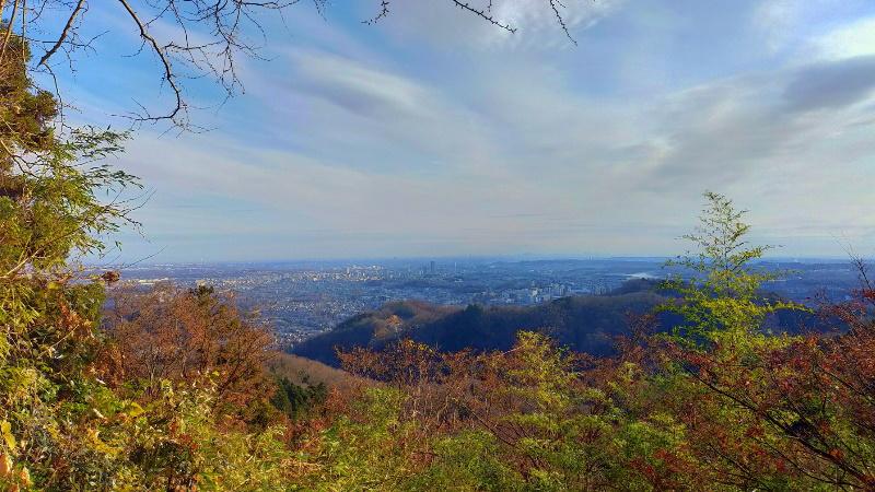 高尾山 金毘羅台園地からの風景
